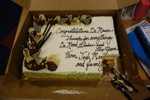 This was the cake we brought in to thank the entire team at CNMC. Everyone got a slice!
