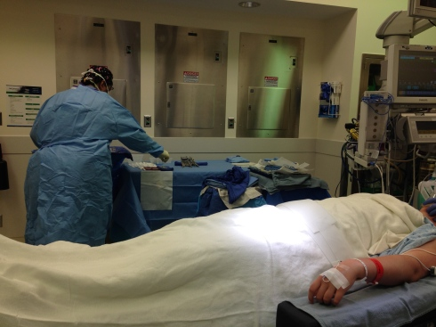 Photo taken by the nurse during surgery.